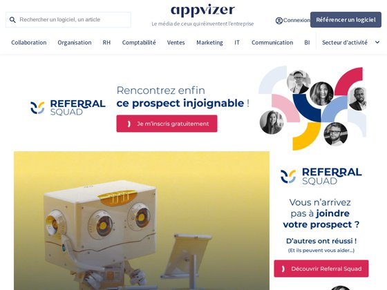 appvizer, comparateur de logiciels en ligne