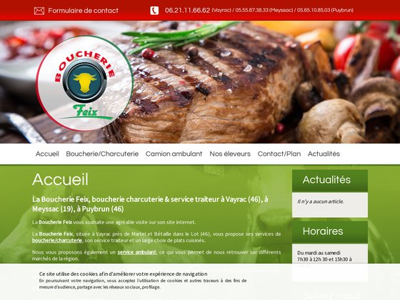 Boucherie & charcuterie ambulante à Vayrac & Puybrun (46) | Boucherie Feix