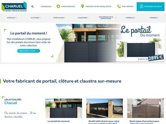 Charuel| fabricant portail aluminium, portail pvc