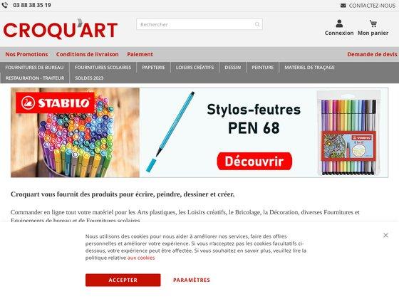 Croquart, matériel de loisirs créatifs