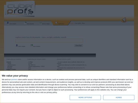 Cyberprofs.com - Soutien scolaire en ligne