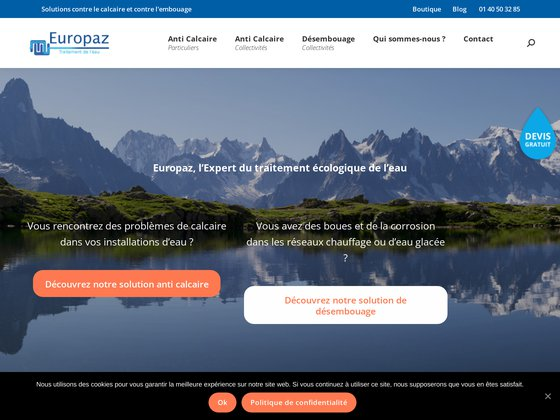 Europaz traitement écologique de l'eau