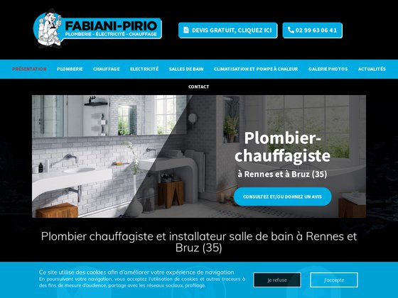 Fabiani-Pirio : plomberie, chauffage & salle de bain à Rennes (35)