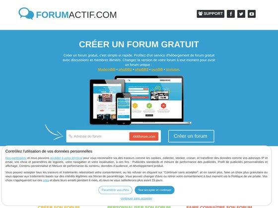 forumactif.com - Créer son forum gratuit et personnalisable