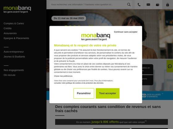 Banque en ligne pour les particuliers