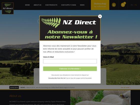 NZ Direct : Importateur de viande d'agneau