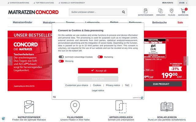 Literie Concorde : vente en ligne de matelas et sommiers