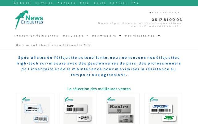 Etiquette autocollante personnalisée adhésive par NewsEtiquettes.fr