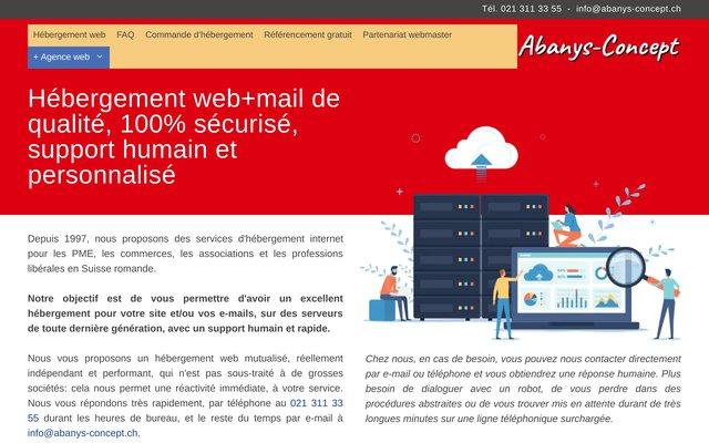Héberger son site avec Abanys-Concept pour une visibilité accrue.