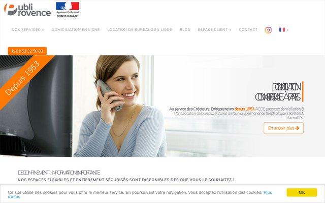 ACDE - Domiciliation d'entreprise à Paris