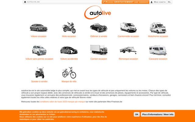 AutoLive.be - Portail automobile belge