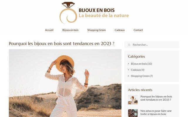 Bijoux en Bois