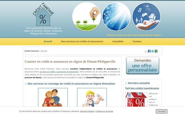 Crédit Famenne, courtier en financements à Philippeville (Belgique)