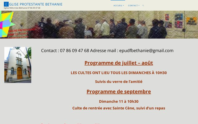 Eglise Prostestante Unie de Paris Béthanie