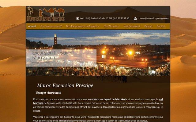Excursion prestige Maroc