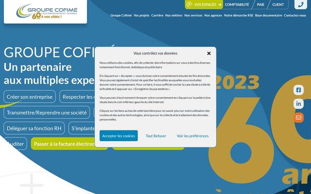 Groupe Cofimé, cabinet d'expertise-comptable, audit et conseil en Alsace, Franche Comté et à Paris.