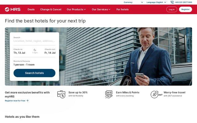 HRS.com : le spécialiste de la réservation d'hôtels en ligne