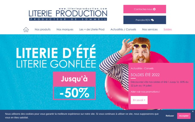 Literie Production : ensembles literie, matelas, sommiers à Villefranche, Lyon, Tassin, Civrieux