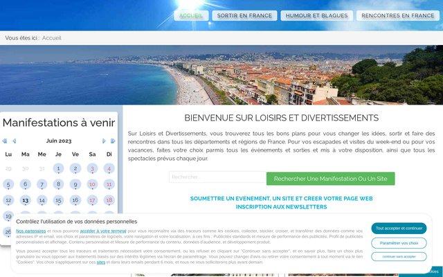 Loisirs, divertissements, sorties en France