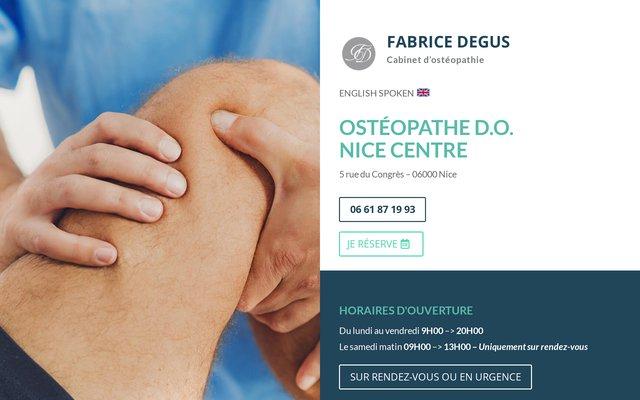 Ostéopathe à Nice : Fabrice Degus