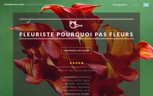 Fleuriste Pourquoi pas Fleurs Montreal