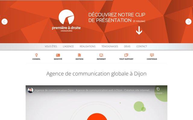 Agence de communication à Dijon : Première à droite Communication