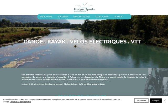 Prolynx Sports, Activités sportives de loisirs en Rhône-Alpes