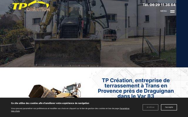 Travaux de terrassement à Draguignan, entreprise de terrassement dans le Var 83, TP CREATION