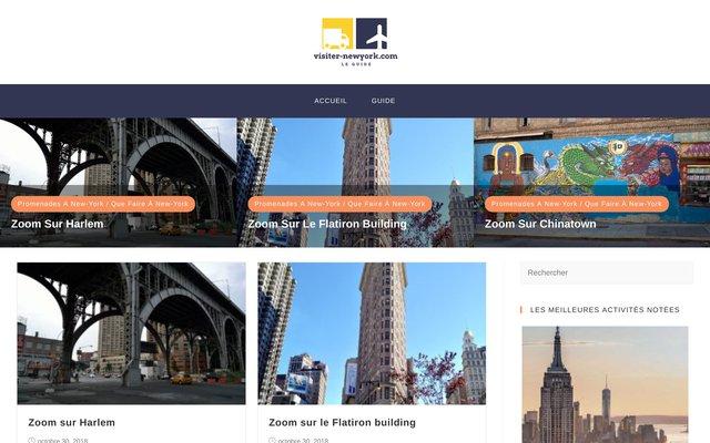 Site d'informations touristiques sur New York