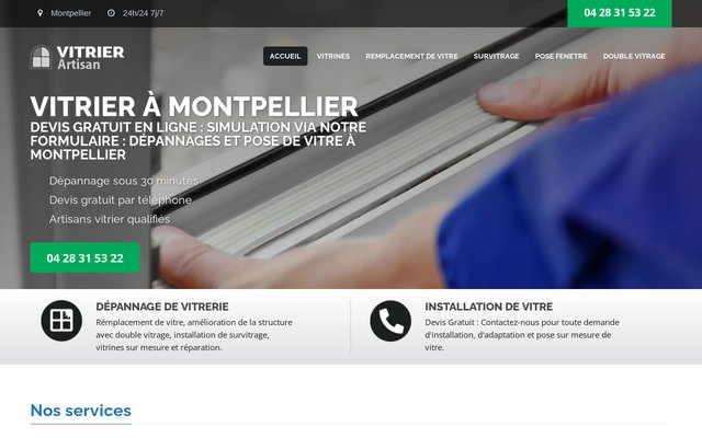Professionnel de la vitrerie à Montpellier