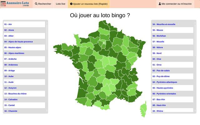 Agenda lotos partout en France