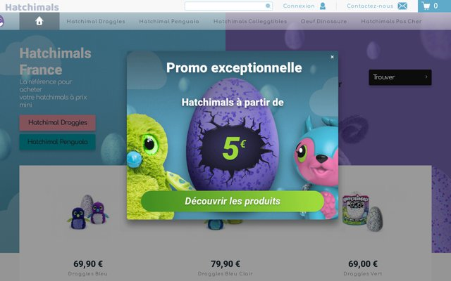 Site de vente d'Hatchimals en France