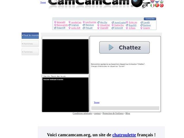Chatroulette Français Chat Et Rencontre Sur Bazoocam.org Gay   site ...
