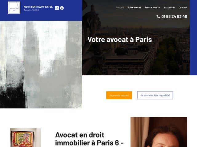 Avocat droit immobilier Paris 6 – Bail commercial, copropriété