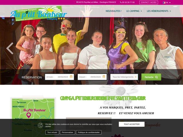 Le camping Au P'tit Bonheur en Dordogne