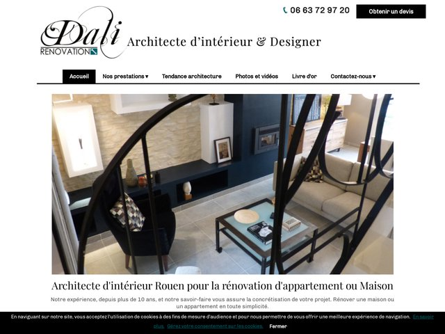 r novation maison et d coration d int rieur rouen 76 dali. Black Bedroom Furniture Sets. Home Design Ideas
