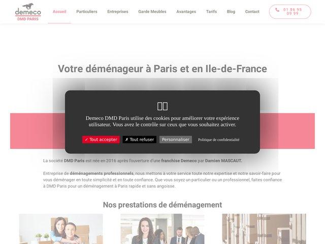Dmd Paris, entreprise de déménagement à Paris