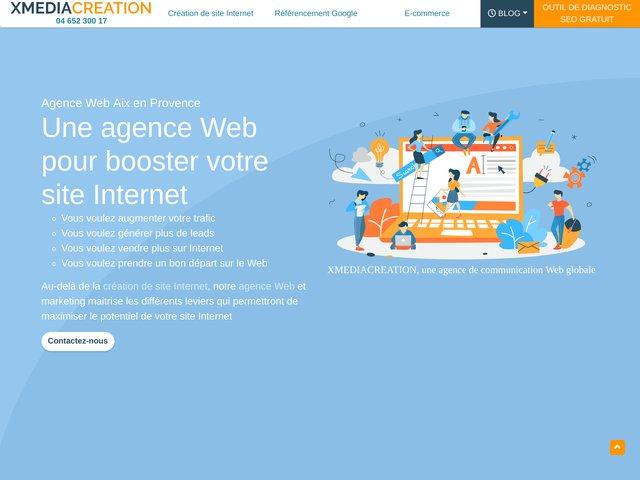 Agence web Xmedia Création, depuis 10 ans à Aix en Provence
