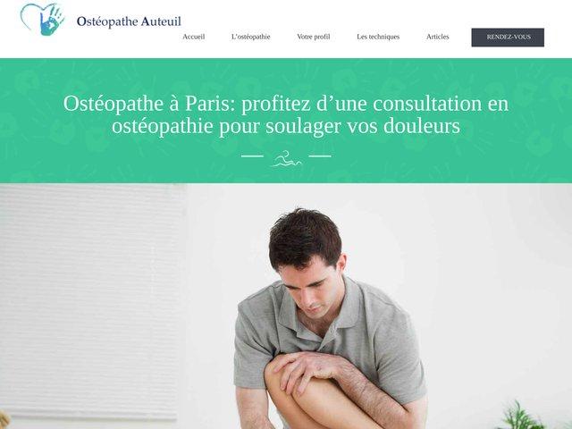 Ostéopathe Paris 16 Adrien Bara