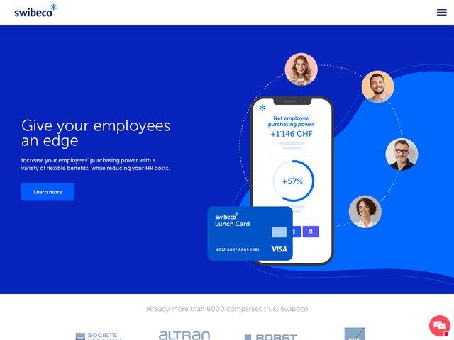 Swibeco: solutions de fidélisation des employés