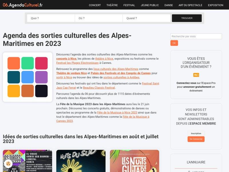 Agenda Culturel des Alpes-Maritimes 2016 et 2017