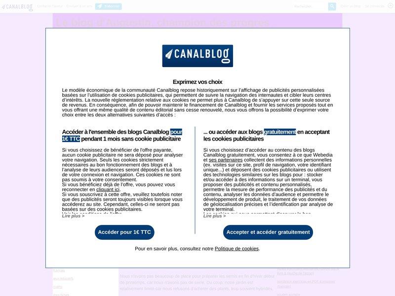 Le blog d'Augustin, champion des progrès