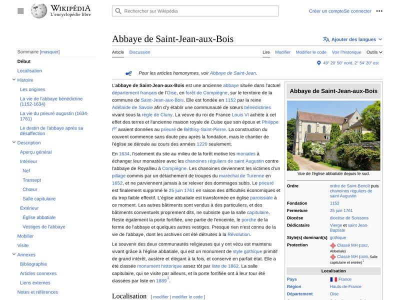 Abbaye de Saint-Jean-aux-Bois — Wikipédia