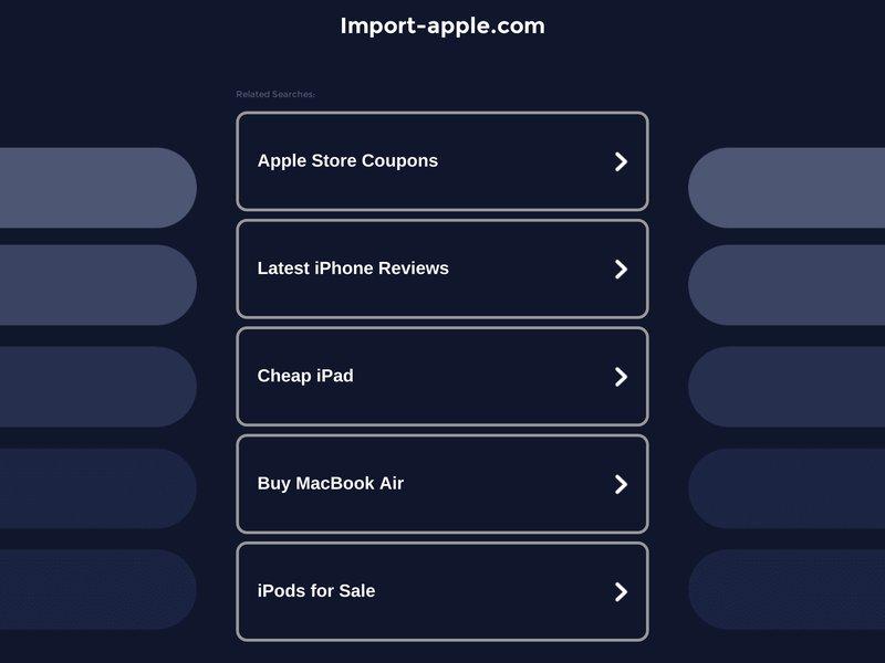 IMPORT-APPLE Grossiste en ligne