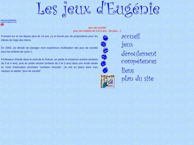 LES JEUX D'EUGENIE