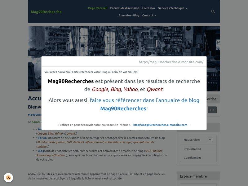 Accueil   Mag90Recherche - Le réseau social des blogueurs!