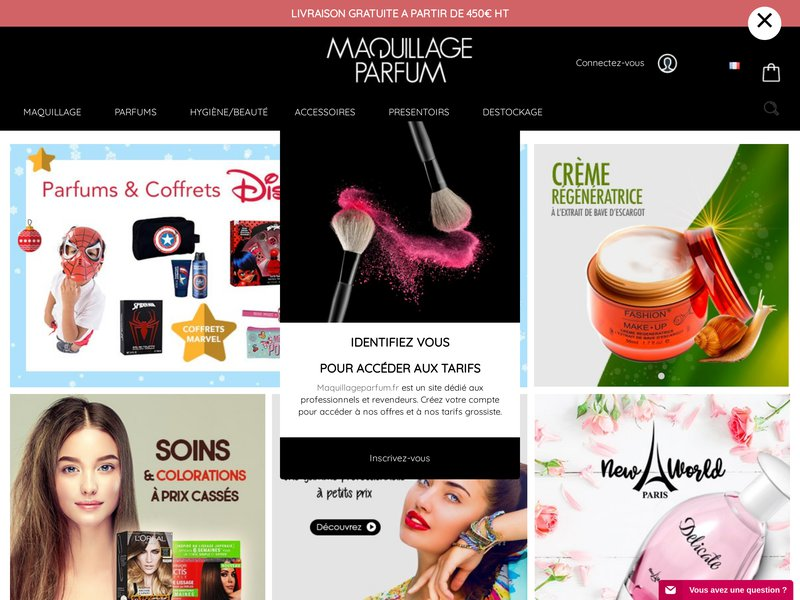 Grossiste maquillage, parfums, accessoires