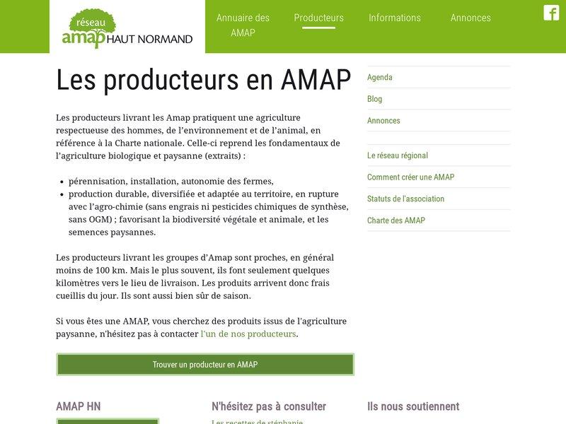 Les producteurs en AMAP