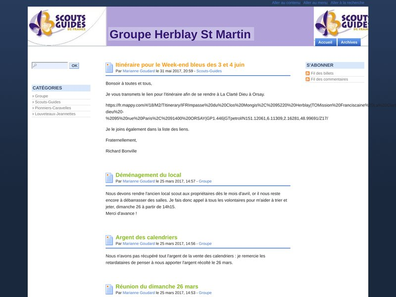 Blog du Groupe de Herblay - SGDF