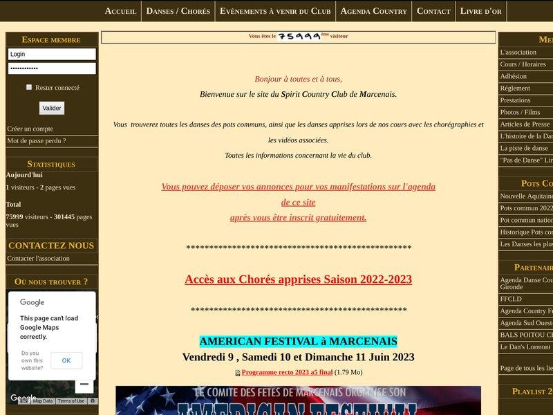 Spirit country club Marcenais